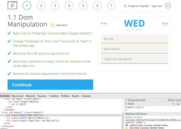 Capture: Pratique dans l'inpecteur Web et correction simultanée